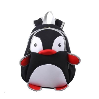 Детский Рюкзак Пингвин Черный с белым