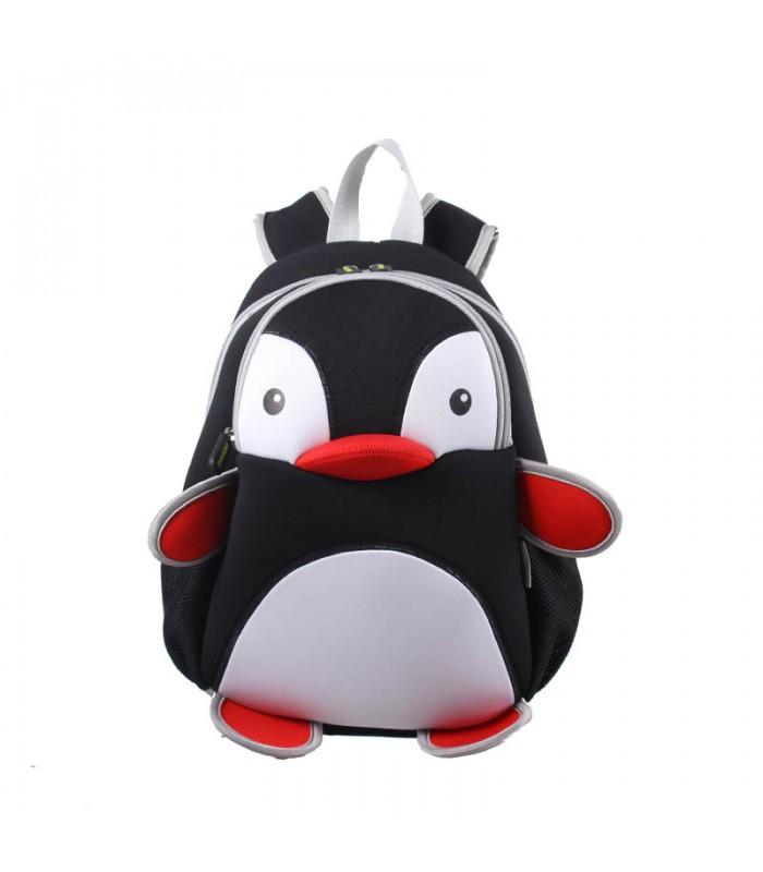 Купить Детский Рюкзак Пингвин Черный с белым