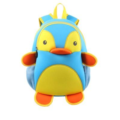 Детский Рюкзак Пингвин Голубой с желтым