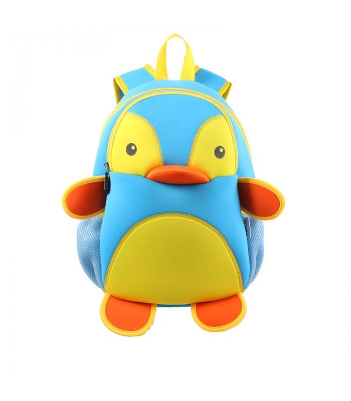 Купить Детский Рюкзак Пингвин Голубой с желтым