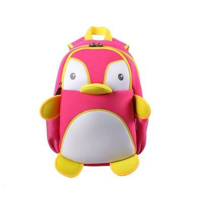 Детский Рюкзак Пингвин Розовый с белым