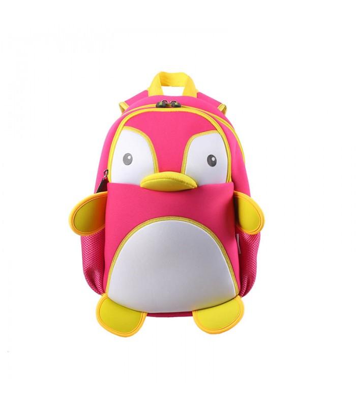 Купить Детский Рюкзак Пингвин Розовый с белым
