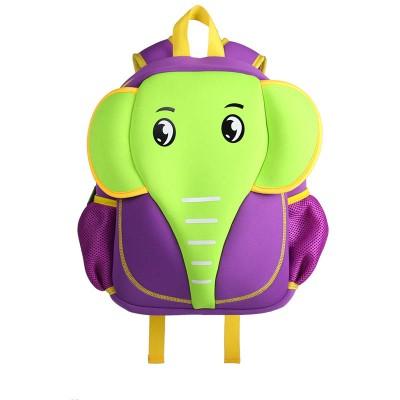 Детский Рюкзак Слон Зеленый с фиолетовым