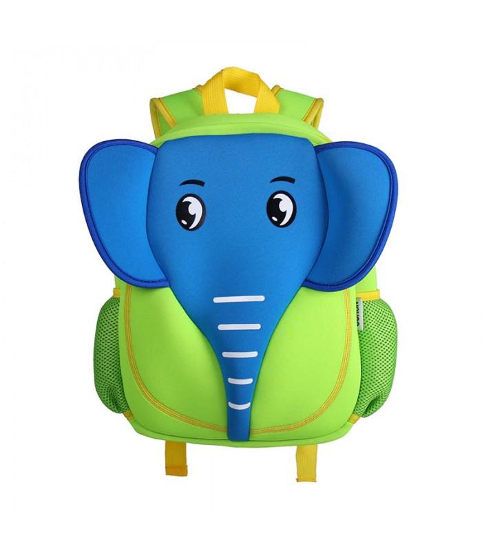 Купить Детский Рюкзак Слон Синий с зеленым
