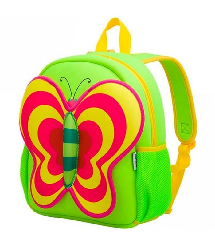 Купить Детский Рюкзак Бабочка Салатовый