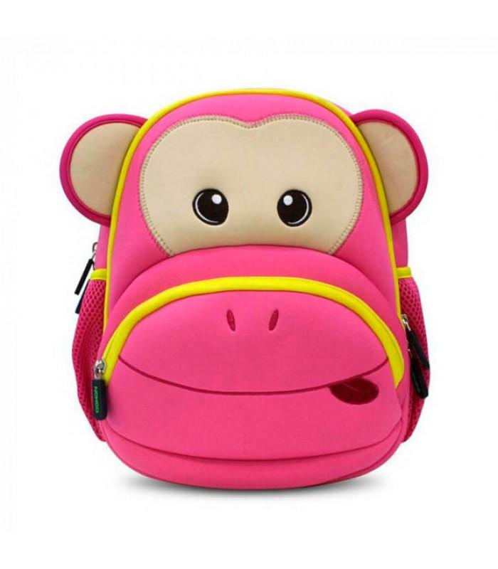 Купить Детский Рюкзак Nohoo Обезьяна Розовый с желтым