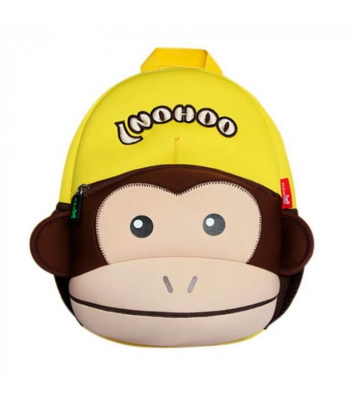 Купить Детский Рюкзак Обезьяна Коричневый с желтым