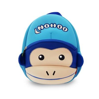 Детский Рюкзак Обезьяна Синий с голубым