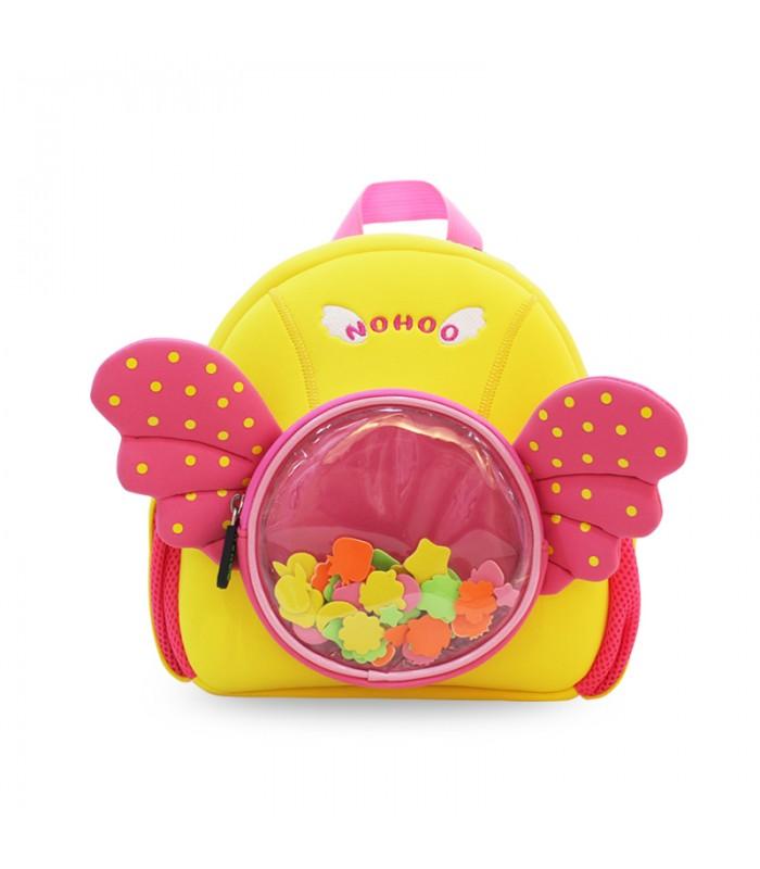 Купить Детский Рюкзак Ангелочек Розовый с желтым