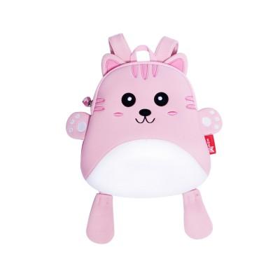 Детский Рюкзак Котик Белый с розовым