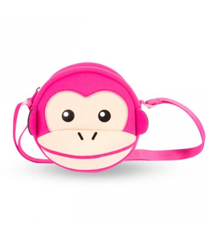 Купить Детская сумочка - Обезьяна Розовая